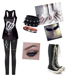 """""""Silver's party Outfit"""" by emo-neko-girl045 on Polyvore featuring beauty, Converse and Valentino"""