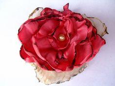 Coral Flower Wedding Hair Flower Summer Beach wedding Coral Statement Flower hair clip brooch bridal flower