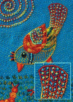 """Embroidery Stitches Tutorial The Joyful Stitching """"Missing Chapter"""" - C Sashiko Embroidery, Japanese Embroidery, Embroidery Applique, Cross Stitch Embroidery, Indian Embroidery, Creative Embroidery, Hand Embroidery Designs, Embroidery Patterns, Boro Stitching"""