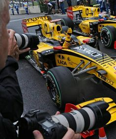 Robert Kubica and Vitaly Petrov, Renault, Brazil, 2010.