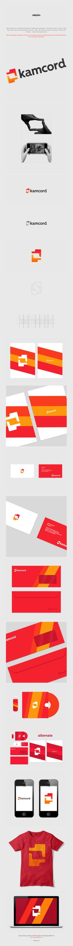Kamcord logo and corporate identity design by Utopia Branding Agency » Design You Trust – Design Blog and Community