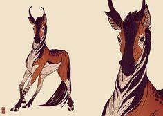 Cabrrus - adoptable concept by Zarnala.deviantart.com on @deviantART / animaux / ongulé / imaginaire / pelage / antilope