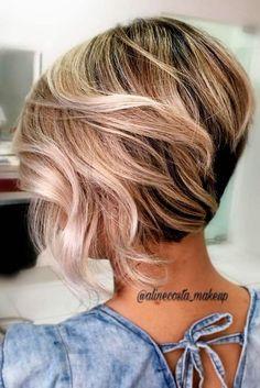 Sarışın Balyajlar ile Kısa Saç Modelleri