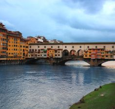 The Ponte Vecchio is a Medieval stone closed-spandrel segmental arch bridge over the Arno River, in Florence, Italy, noted for still having shops built along it, as was once common.  to learn more visit www.goabbeyroad.com