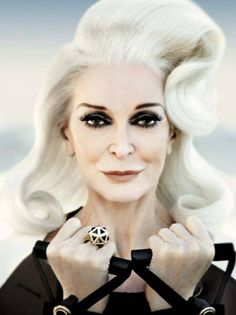 #workshilora! Carmen Dell'Orefice, AMAZING at 82 years old. Vogue Italia, June 2013.