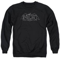 Batman Beware Black and White Logo Sweatshirt