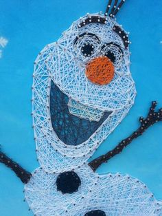 Olaf the snowman String Art Olaf from frozen art door ThejewelryCage