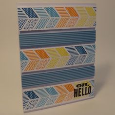 Paper craft and card idea using Stampin' Up! Oh, Hello stamp set. Crafting the Day Away: http://supersuelovestocraft.blogspot.com/