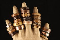 Keeping Busy - Bent Wood Rings