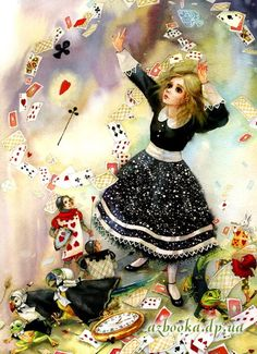 Alice in Wonderland ~by Eugenia Christotinoy Lewis Carroll, Alice In Wonderland Illustrations, Go Ask Alice, Alice Madness, White Rabbits, Adventures In Wonderland, Through The Looking Glass, Illustrators, Fairy Tales