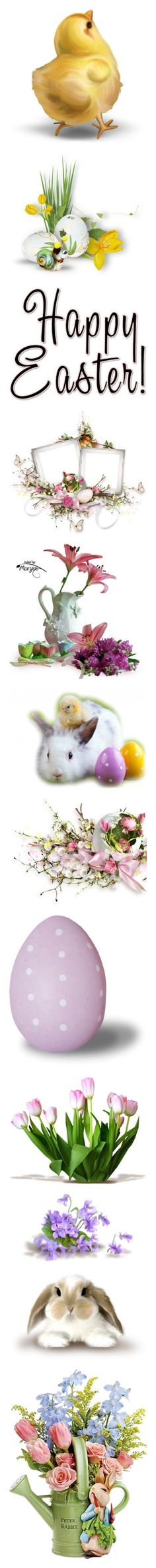 """""""Easter"""" by riagr ❤ liked on Polyvore featuring easter, cluster, eggs, words, text, holidays, quotes, phrase, saying and frames"""