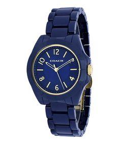 This Navy Blue Tristen Bracelet Watch is perfect! #zulilyfinds