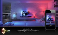 Philips hue - Light Strips / Colors / Mood all controlled by your iPhone, Android or API. Sky Interior, meet your match.