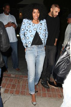 Solange Knowles seen leaving the Levis Annual House party in Los Angeles