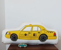 NYC Taxi Plush Toy by katedurkin on Etsy