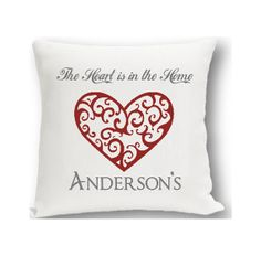 Vintage Hearts Personalized Throw Pillow  by CreativeByClair, $19.99