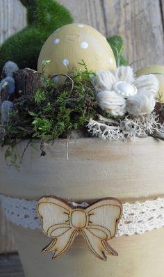 Nyuszi ül a fűben - húsvéti asztaldísz (anniesdesign) - Meska.hu