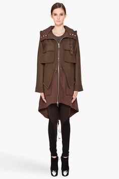 GIVENCHY //  MILITARY CLOTH COAT