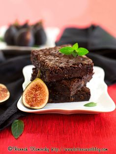 Vegan Fig-Mint Brownies
