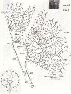 Crochet Collar Pattern, Col Crochet, Crochet Lace Edging, Crochet Diagram, Crochet Chart, Crochet Doilies, Crochet Stitches, Crochet Patterns, Crochet Scarves