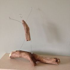 Driftwood and wire sculpture. Early morning stretch!