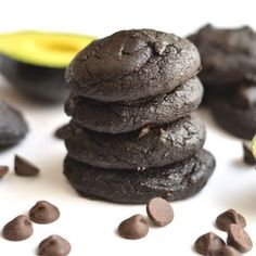 These Chocolate Avocado Cookies are rich,fudgy & melt in your mouth! Avocados aresubstituted for oil making the cookies a healthier, vitamin packed treat. You'll never know they're made with avocados! Gluten Free + Low Calorie {with aPaleo option}