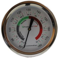 The FreeGarden TEMP Compost Thermometer is ideally suited for measuring the temperature of your compost. The easy-to-read large in. dial and long stainless steel stem with a pointed tip is the most Compost Bucket, Aquaponics Kit, Hydroponics, Compost Thermometer, Compost Turner, Compost Accelerator, Tumbling Composter, Wicking Beds, Humor