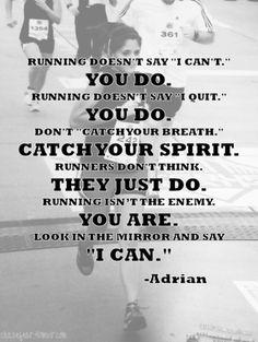 Running doesn't...