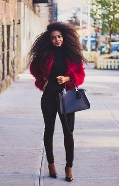 Red  Coat from eBay // Zara Sweater // Fashion Nova Jeans XOXOSUNITAV for 15% off // Heels from Nina Shoes // Bag HERE  Fashion By Sunita V.