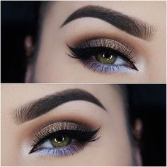 The pop of periwinkle is the perfect cool tone shadow to brighten up a neutral smoky eye.