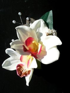 TROPICAL FLOWER CLIP  Hawaiian Orchids Bridal Flowers by MalamaPua, $21.99
