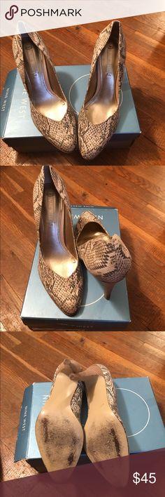 Nine West pumps Nine West snake skin patterned pumps Nine West Shoes Heels