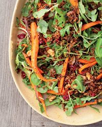 Roasted Carrot and Red Quinoa Salad Recipe - Anna Zepaltas | Food & Wine #VegetarianThanksgiving