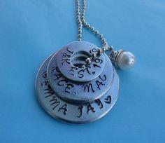 washer necklace metal handstamped