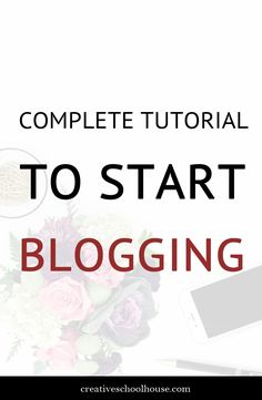 how-to-start-a-blog-tutorial Great tutorial to get your blog or website up and running in less than 10 minutes! Creative Schoolhouse - design and business tips for creatives.