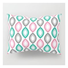 Sweet retro pattern Pillow Sham ❤ liked on Polyvore featuring home, bed & bath, bedding, bed accessories, patterned bedding and retro bedding