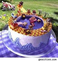 Teddy bear pool party cake