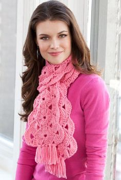 Red Heart® With Hope Scarf #crochet #pattern