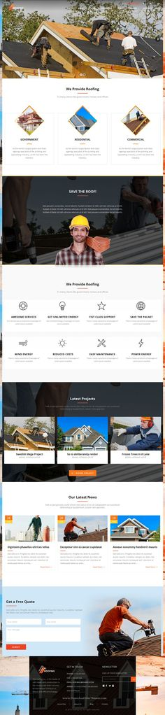 Roofing is a powerful WordPress #theme for roofing, construction and #renovation companies #website. Download Now!