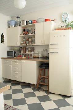 Tämmöinen lattia voisi olla meidänkin keittiössä