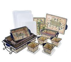 Temp tations Old World 14 Piece Oven to Table Set Confetti   eBay