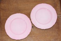 "2x 1950's Royal Winton Petunia Bone China 7"" Plates Set Made in England"