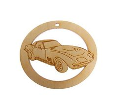 Corvette Ornament - Corvette Art - Corvette Ornaments - Corvette Decor - Classic Car Decor - Sports Car => You will love this! More info here : Handmade Gifts