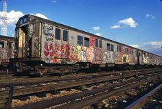 1980s NYC Train Graffiti