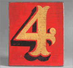 The Vintage Wall - Hand-painted wooden sign: fairground number '