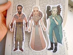 Daenerys Targaryen & Khal Drogo bookmarks! A supernice gift for Game of Thrones fans and book lovers!  Ive made a new version of Daenerys (on the