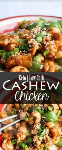 Easy Keto Cashew Chicken - Easy Recipe On a Budget Chicken Cashew Stir Fry, Sauce For Chicken, Keto Chicken, Chicken Recipes, Ketogenic Recipes, Healthy Recipes, Ketogenic Diet, Healthy Meals, Healthy Eating