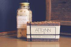 Spa Gift Set, Soap Gift Set, Bath Salts, All Natural Essential Oil Soap, Bath Gift Set