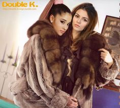 Ariana&Victoria by Double K. Fur Fashion, Fashion Outfits, Fox Fur Coat, Fur Coats, Sable Coat, Chinchilla Fur, Luxury Girl, Fur Stole, Fake Fur