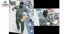 Polícia divulga imagens de assaltante, que estaria cometendo assaltos em série na província de Mie.
